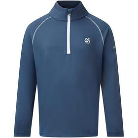 Dare 2b Consist II Core Stretch Maglietta A Maniche Lunghe Bambino, blu